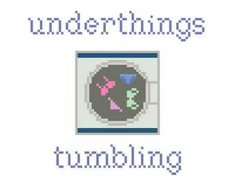 Underthings Tumbling (Dr. Horrible's Sing-Along Blog) - Cross Stitch Pattern