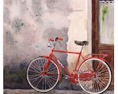Bicycle Art Watercolor Print