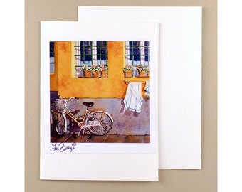 Bike Note Cards Bicycle Paper Goods Travel note card Ephemera Fine art Bicycle note card Watercolor Bike Art Artwork Florence Italy