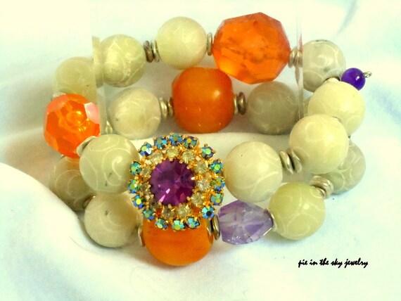 Bakelite Stretch bracelets                  MOVING SALE