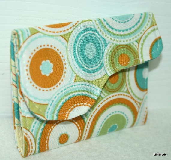 Business Card, Gift Card or Credit Card Holder with flap closure