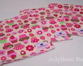 Cupcake Burp cloth SET of 3