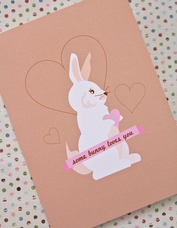 Some Bunny Loves You Romantic Card