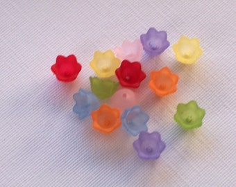 Lucite Bell Flowers Small Mixed 10mm x 6mm (28)