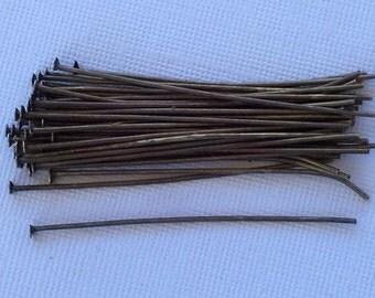 Headpins Antique Brass 2 inches (100)