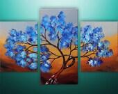 Abstract Modern Landscape Asian Tree Art by Gabriela 36x24