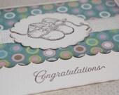 Handmade Greeting Card - Baby - Polka Dots