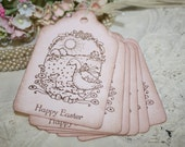 Spring Gift Tags - Vintage Goose with Babies - Favor Tags