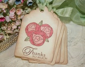 Gift Tags - Thanks so much - Pink Cabbage Roses