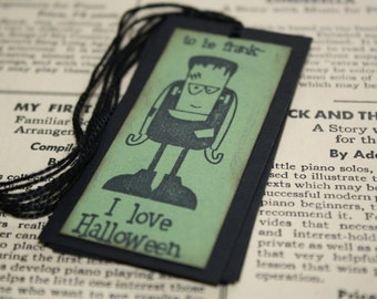 Halloween Gift Tags - Frankenstein