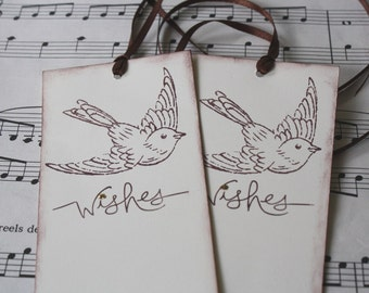 Wish Tree Wedding Tags - Pretty Bird Wishes - Set of 25