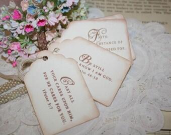 Gift Tags - Scripture Verses - Vintage Inspired