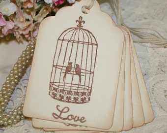Gift Tags - Vintage Birdcage - Wedding Collection