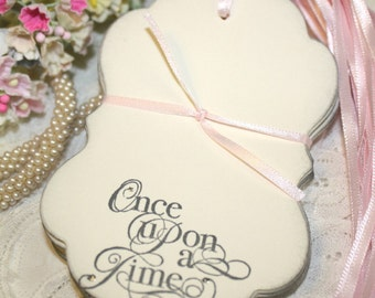 Wish Tree Wedding Tags - Once Upon a Time - Soft Gray and Silver - Set of 25