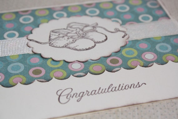 Handmade Greeting Card - Baby - Polka Dots