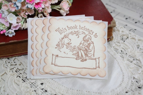 Bookplates - Classic Winnie the Pooh - Birthday Favors - Children Gift