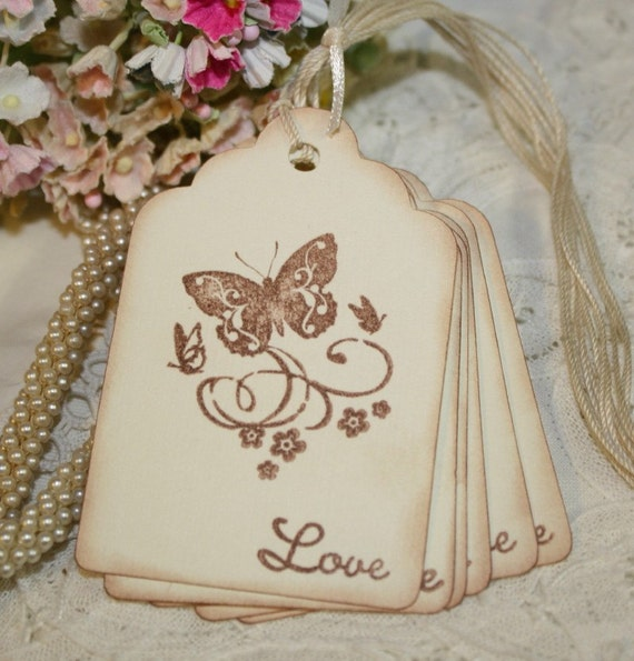 Butterfly Gift Tags - Wedding Favor Tags - Baby Shower Tags