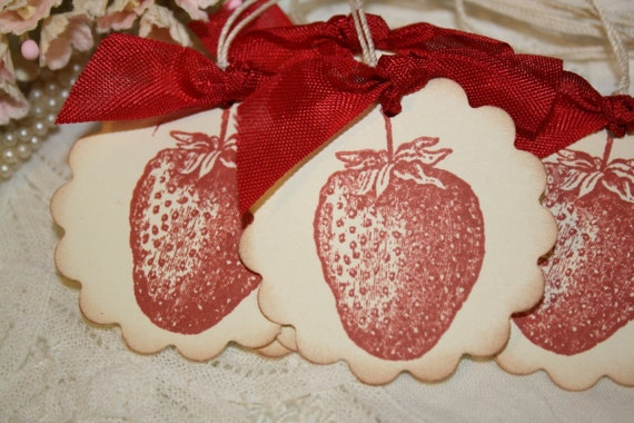 Strawberry Gift Tags - Favor Tags