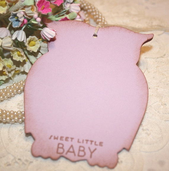 baby shower wish tree tags baby girl lilac purple owls set of 12