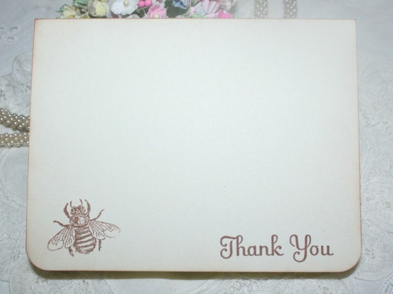 Baby Shower Thank You Cards - Honey Bee - Neutral - Set of 12