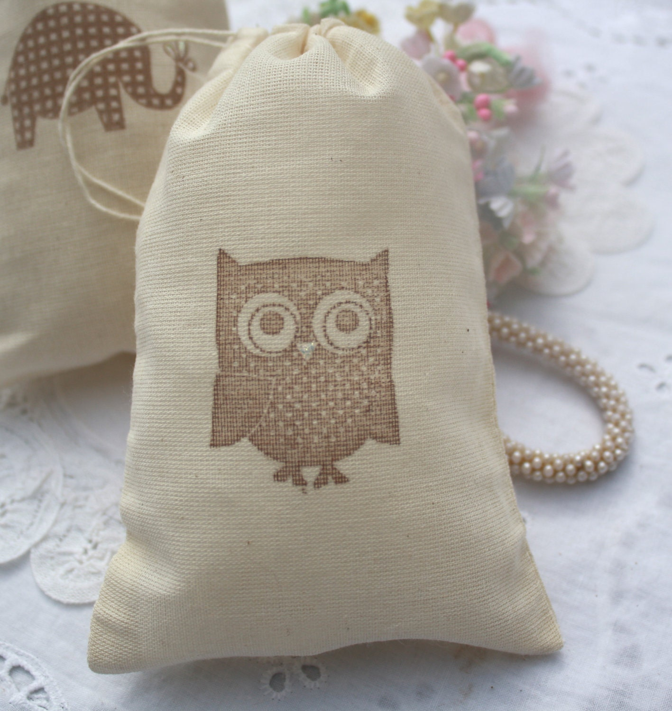 muslin favor bags baby shower wedding by shabbypeadesigns