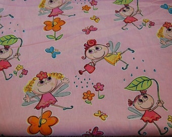 Euro Import Elfi Fairy Fabric 1 yard Hard to Find OOP Out of Print Hilco Stenzo Boutique