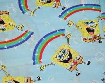 Spongebob Squarepants Imagination Rainbow Fabric 1 yard