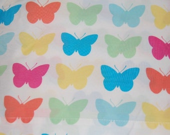 Euro Boutique Tommy Hilfiger Rainbow Butterfly Fabric 1 yard