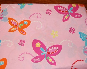 Euro Boutique Rainbow Butterfly Fabric 1 yard