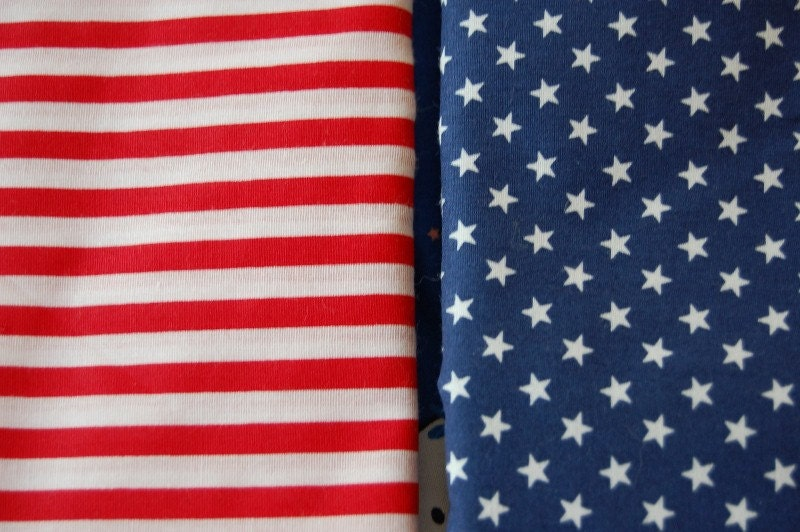 Red And White Striped Fabric Americana American Flag Fabric 1