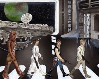 Star Wars, Abbey Road Print- Beatles