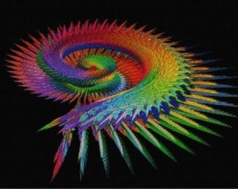Wings Fractal Cross Stitch Chart