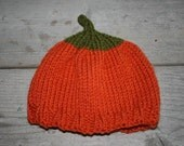 Little Pumpkin Hat--newborn to 6 month size available-cute photo prop or shower gift