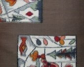 Silk japanese kimono fabric meisen weave from early 20th century. 64cm or 25 in. panel (3 panels left available)