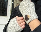 Winston Wool Hedgehog Fingerless Mittens