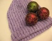 Women's Lavender Warm Knit Hat