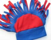 Color Crazy Mohawk Fleece Hat