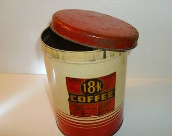 18K Brand Coffee Tin
