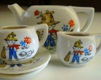 Miniature Porcelain Doll Tea Set Pieces