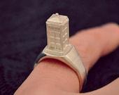 Tiny Tiny Tardis Ring in Silver //PRESALE//