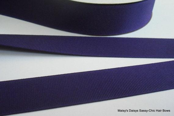 Dark Purple Grosgrain Ribbon 7/8 Inch, 3 yards