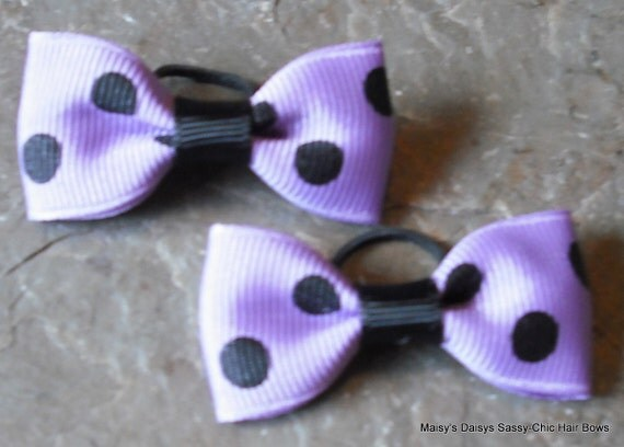 Lovely Lavender TINY BOWS Great for Babies (and Pooches too)