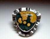 Green and Yellow Ocean Jasper pendant