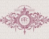 Fleur Wedding Custom Wedding Monogram - Wedding Logo - Wedding Crest