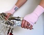 Organic Short Rose Fingerless Gloves