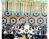 Fabric For Little Girls Dress- Black, Green & Yellow
