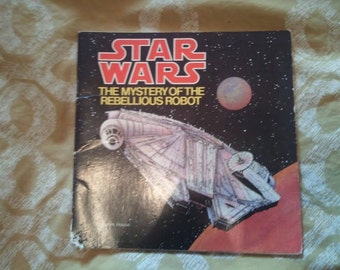 Vintage 70's Star Wars Book - The Mystery of the Rebellious Robot