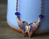 Necklace, Butterfly, Vintage Copper - LUTHIEN