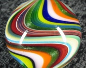 """Mad Man Marbles 1"""" Multi Color Reverse Twist Marble"""