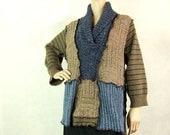Women Sweater Tunic, Pullover Sweater, Blue, Large, Winter Fashion